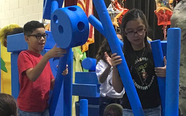 Thanks to a generous donation from CarMax, General Stanford Elementary School students have an Imagination Playground from KaBOOM!