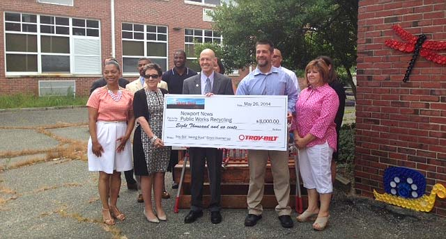 NNPS and grant partners were presented with the award check on July 9.