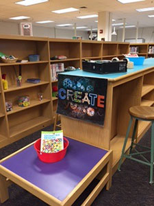 <p>An area of the Woodside High School<br>library will be transformed into an<br>interactive STEAM makerspace.</p>