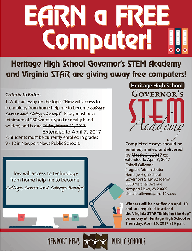 <a href=http://sbo.nn.k12.va.us/news/archive/hhs-computer-flyer.pdf>Download the information flyer</a>.