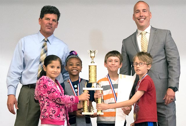 The second and third-grade team from Deer Park Elementary School placed first in the High Flyers challenge.