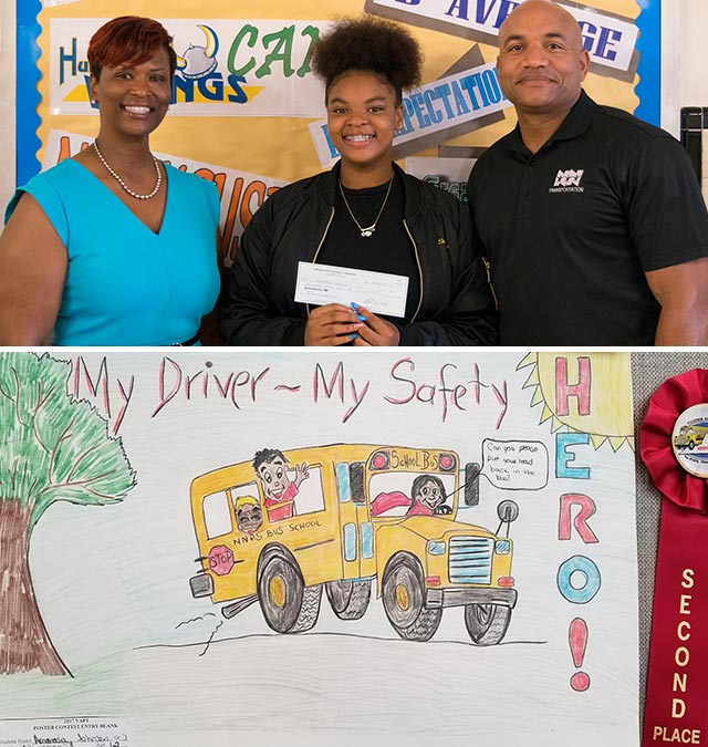 Huntington Middle School student Amarasia Johnson placed second in the middle school division.